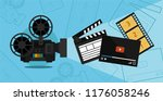 cinema shooting and video... | Shutterstock .eps vector #1176058246