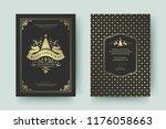 christmas greeting card design... | Shutterstock .eps vector #1176058663