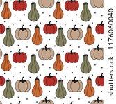 cute colorful pumpkins seamless ...   Shutterstock .eps vector #1176060040