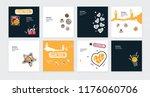 set of vector sketch... | Shutterstock .eps vector #1176060706