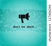 background with megaphone and... | Shutterstock .eps vector #117606244