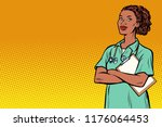 african nurse. medicine and... | Shutterstock .eps vector #1176064453