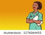 african nurse. medicine and... | Shutterstock .eps vector #1176064453