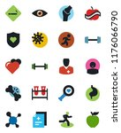 color and black flat icon set   ... | Shutterstock .eps vector #1176066790