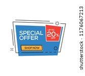 special offer 20  banner | Shutterstock .eps vector #1176067213