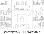 scheme of the interior of the... | Shutterstock .eps vector #1176069826