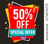 up to 50  off sale banner | Shutterstock .eps vector #1176070270