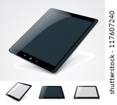 vector icon representing tablet ... | Shutterstock .eps vector #117607240