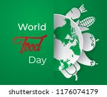 world food day food day... | Shutterstock .eps vector #1176074179