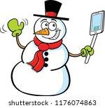 cartoon illustration of a... | Shutterstock . vector #1176074863
