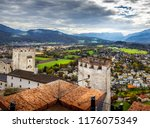 scenic view opening from... | Shutterstock . vector #1176075349