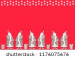 santa claus with gifts and... | Shutterstock . vector #1176075676