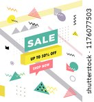 sale poster with geometric... | Shutterstock .eps vector #1176077503