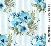 watercolor floral seamless... | Shutterstock . vector #1176078859
