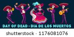 day of dead traditional mexican ... | Shutterstock .eps vector #1176081076