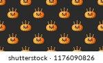 halloween seamless pattern  a... | Shutterstock .eps vector #1176090826