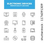 electronic devices  gadgets and ... | Shutterstock .eps vector #1176091309
