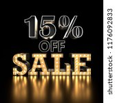 15  off sale text background.... | Shutterstock . vector #1176092833