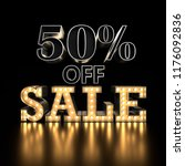 50  off sale text background.... | Shutterstock . vector #1176092836