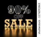 90  off sale text background.... | Shutterstock . vector #1176092863