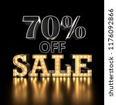 70  off sale text background.... | Shutterstock . vector #1176092866