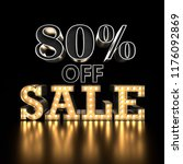 80  off sale text background.... | Shutterstock . vector #1176092869
