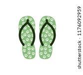 pair of colorful flip flops... | Shutterstock .eps vector #1176092959