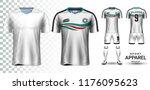 soccer jersey and football kit... | Shutterstock .eps vector #1176095623