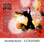 music event background. vector... | Shutterstock .eps vector #117610300
