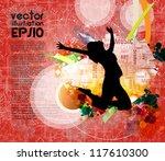 music event background. vector... | Shutterstock .eps vector #117610300