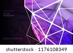 vector 3d geometric  polygon ... | Shutterstock .eps vector #1176108349