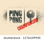 Ping Pong Typographical Vintag...