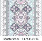 indian rug tribal ornament... | Shutterstock .eps vector #1176110743