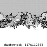 seamless lace ribbon | Shutterstock .eps vector #1176112933