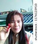 online seller hold wiper blade... | Shutterstock . vector #1176123910
