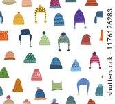 winter theme seamless pattern... | Shutterstock .eps vector #1176126283