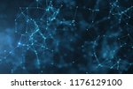 abstract connected dots and... | Shutterstock . vector #1176129100