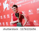 olivia colman poses with the... | Shutterstock . vector #1176131656