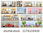 house building interior plan... | Shutterstock .eps vector #1176133420