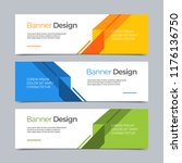 vector abstract banner modern... | Shutterstock .eps vector #1176136750