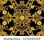 golden baroque decorative... | Shutterstock . vector #1176141319