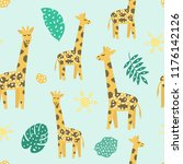 childish seamless pattern with... | Shutterstock .eps vector #1176142126