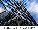 abstract modern architecture.... | Shutterstock . vector #1176145069