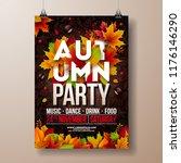 autumn party flyer illustration ... | Shutterstock .eps vector #1176146290