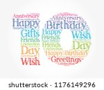 happy 10th birthday word cloud... | Shutterstock .eps vector #1176149296
