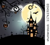happy halloween background... | Shutterstock .eps vector #1176150433