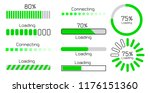 green loading and connecting... | Shutterstock .eps vector #1176151360