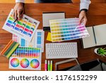 graphic design and color... | Shutterstock . vector #1176152299