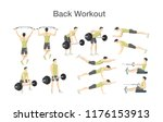 back workout for men with... | Shutterstock .eps vector #1176153913