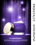 purple cosmetic jar with... | Shutterstock .eps vector #1176154066